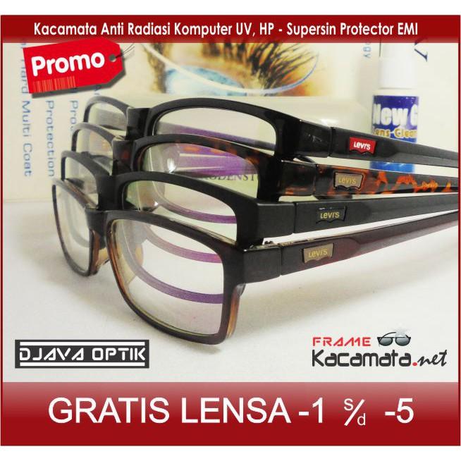 Frame Kacamata Minus Antiradiasi Lensa Baca Kacamata Hitam Kacamata Levis  Kotak Pria Wanita  8354652332