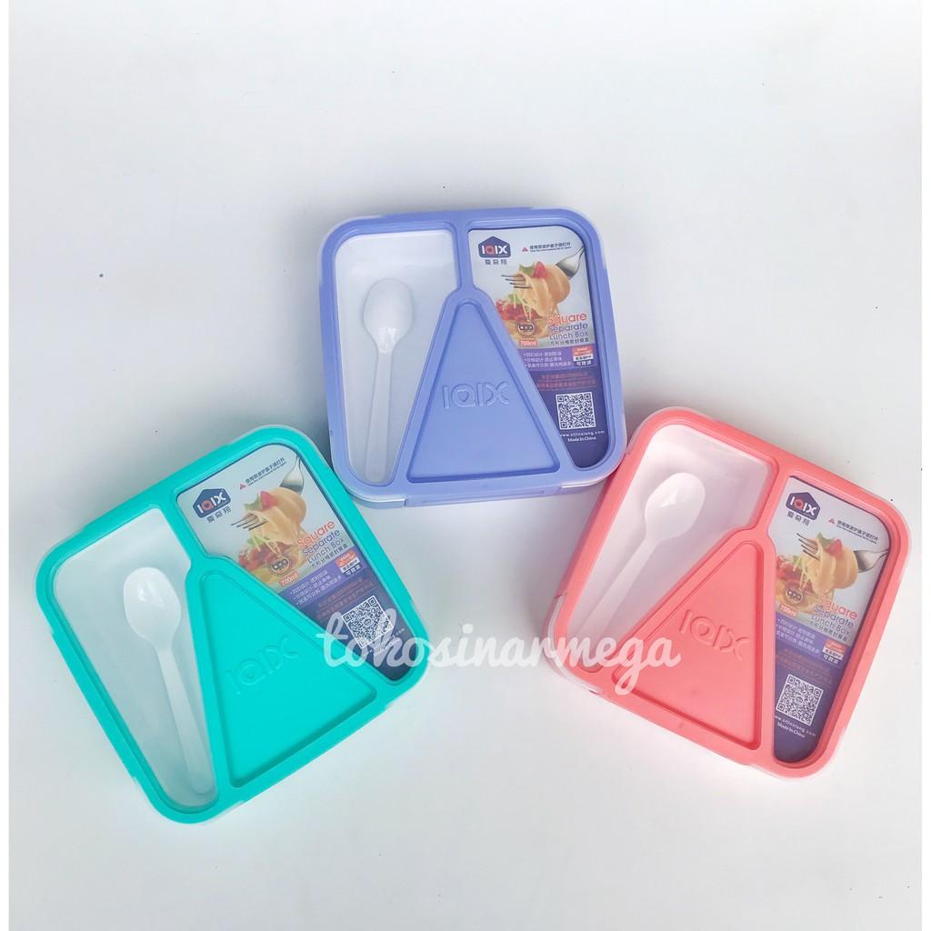 Yooyee Tempat Makan Bekel Lunch Box 3 Sekat Karet Anti Tumpah Leakproof Lunchbox Mini 605 Kotak 4 Biru Muda 579 Shopee Indonesia