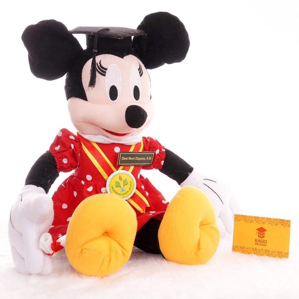 Boneka Wisuda Mickey Mouse Duduk 24cm Kado Wisudaku  f863927770