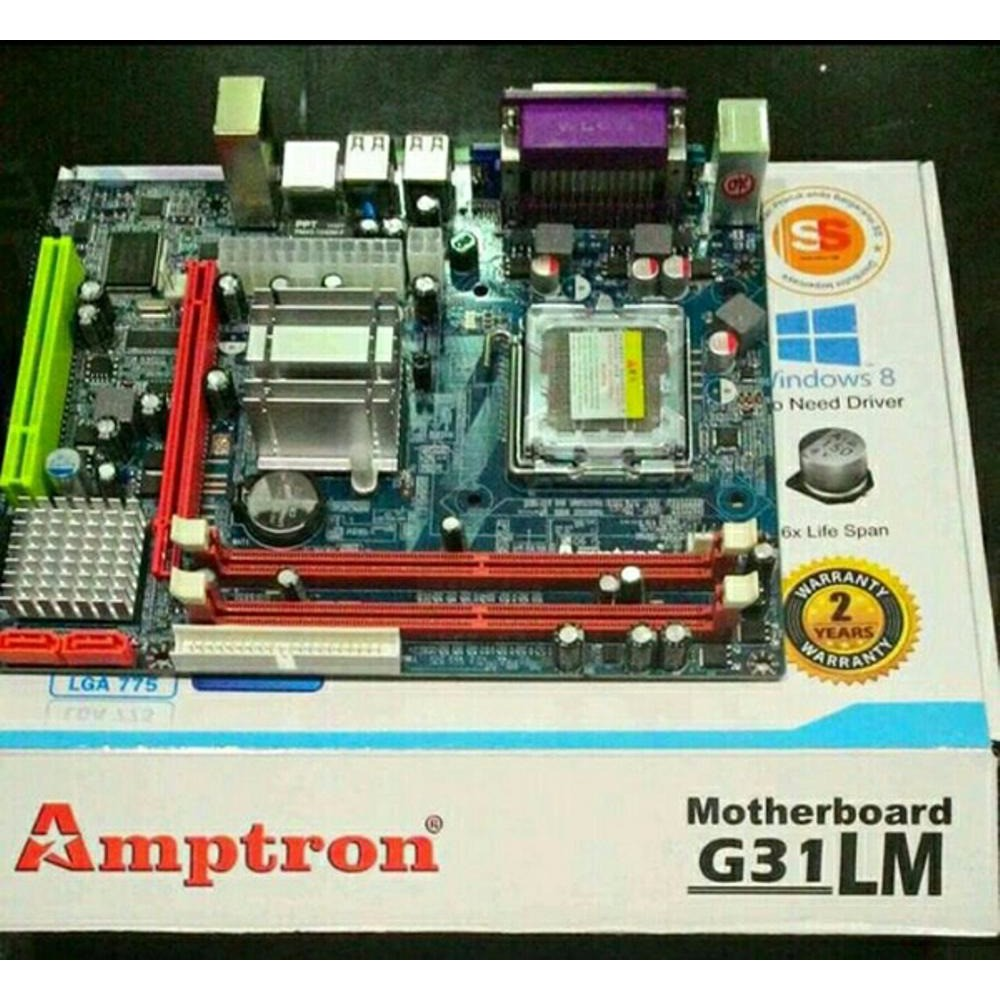 Yi Motherboard ECS H61 H2MV LGA 1155 | Shopee Indonesia