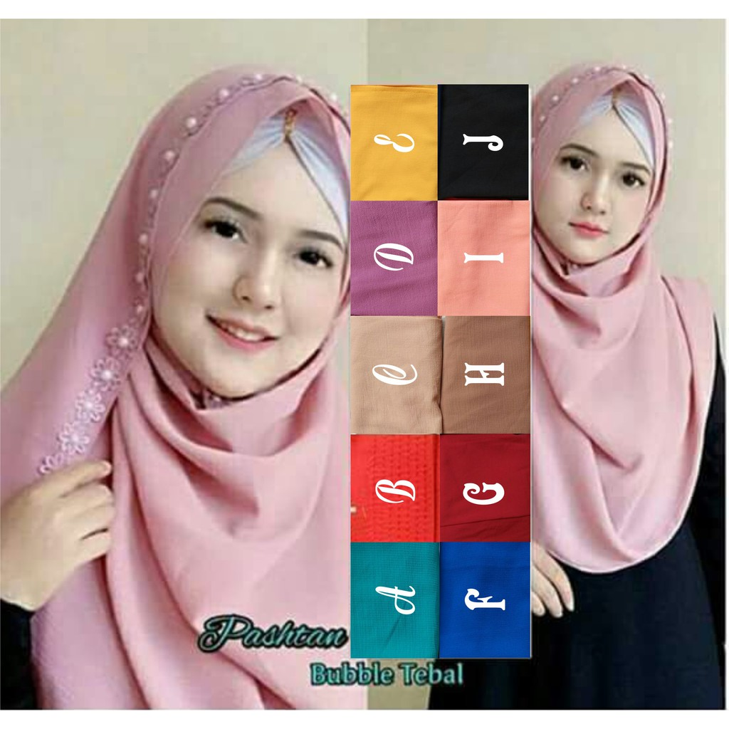 Jilbab Instan Murah Jilbab Pashmina Instan Hijab Renda Bunga Melati Shopee Indonesia
