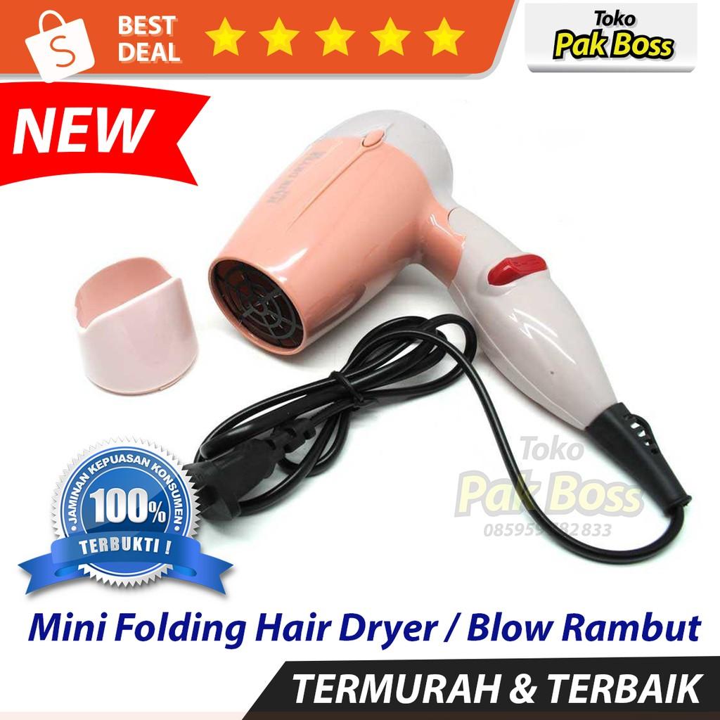 Mini Folding Hair Dryer   Blow Rambut - Pink  58987d95c8