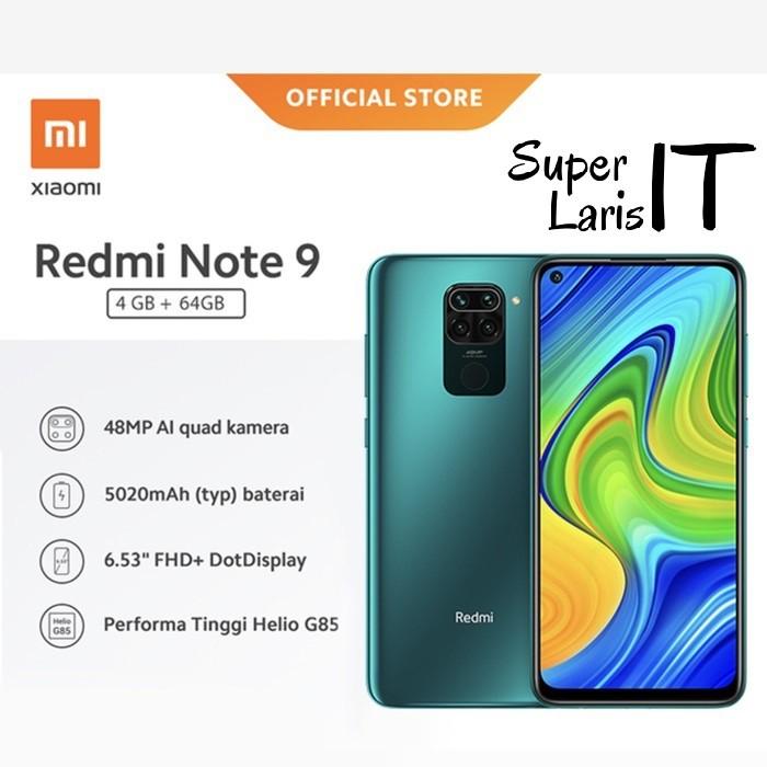 Handphone Xiaomi Redmi Note 9 4gb 64gb Resmi Shopee Indonesia