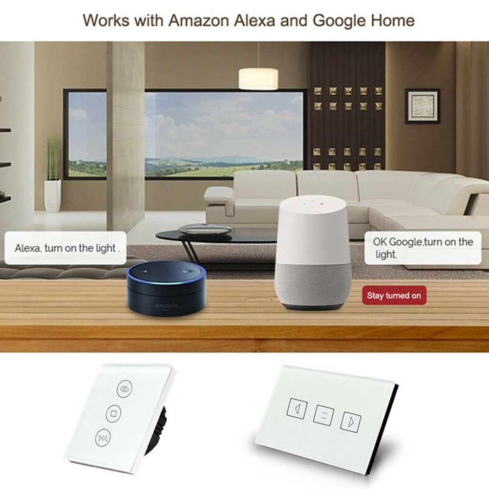 App Control Living Room Electric Easy Install Wifi Bedroom Accessories Smart Curtain Switch Shopee Indonesia