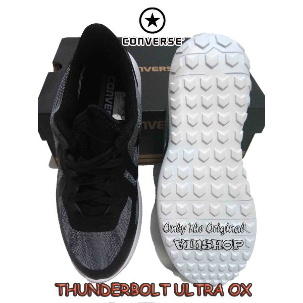 9c0510e99e55 Sepatu Sneaker. CONVERSE THUNDERBOLT ULTRA OX. Black.White. ORIGINAL  155646C