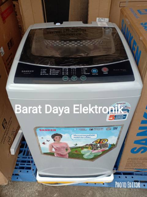 Sanken Aw S831bk Mesin Cuci Top Loading 7 Kg Shopee Indonesia