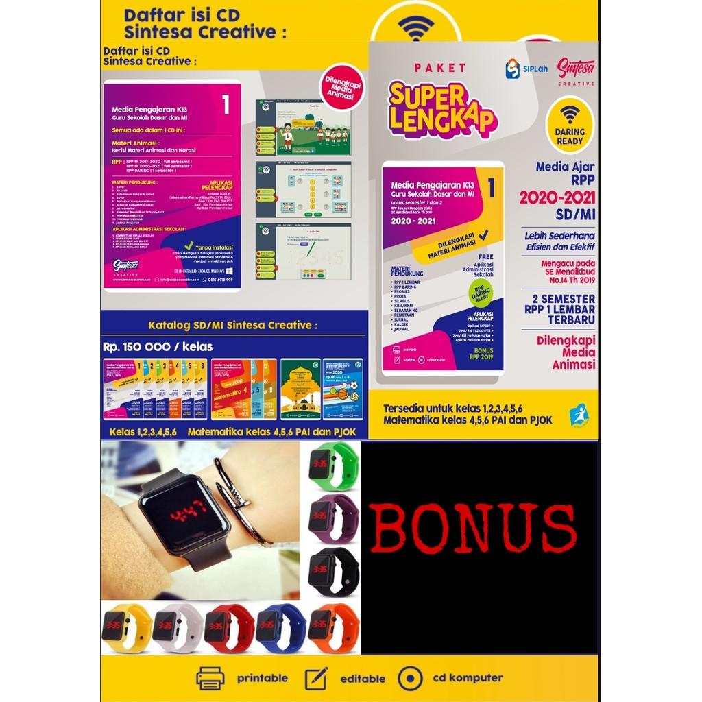 Cd Rpp Perangkat Pembelajaran 1 Lembar Daring Tematik Sd Revisi Terbaru Shopee Indonesia
