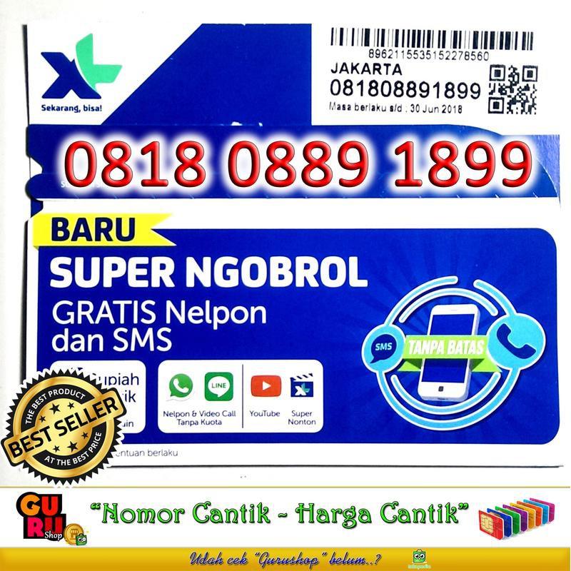 Perdana XL 4G Nomor Cantik XL 4G LTE ABAB AABB ABCD 0818 8089 18818   Shopee Indonesia