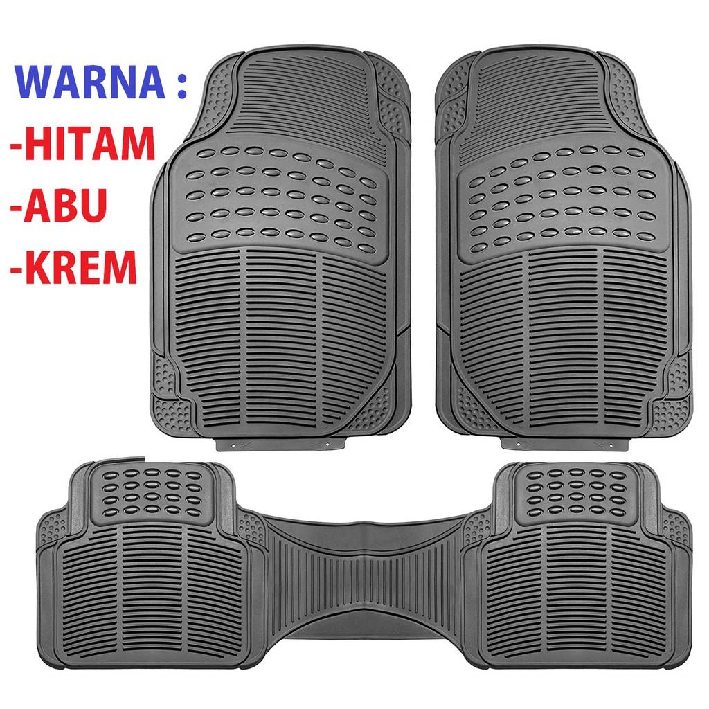 Car Floor Mats >> Bisa Cod Karpet Mobil Universal 3 Pcs 2 Baris Universal Fit Car Mats Car Floor Mats