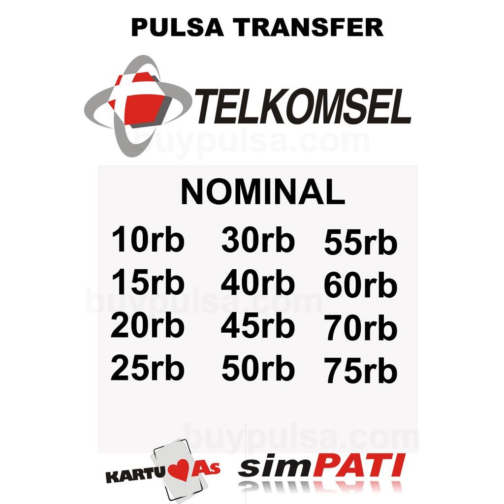 Telkomsel Pulsa Transfer 2000005 Daftar Harga Terkini Dan Perdana Axis Acak Revanyu Nomor Simpati Kartu As Loop Data Internet Shopee Indonesia