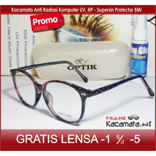 Frame Kacamata Baca Plus Minus Antiradiasi Anti Radiasi-Frame Summer Dior  Bulat Kualitas Premium  d24d1be9ab