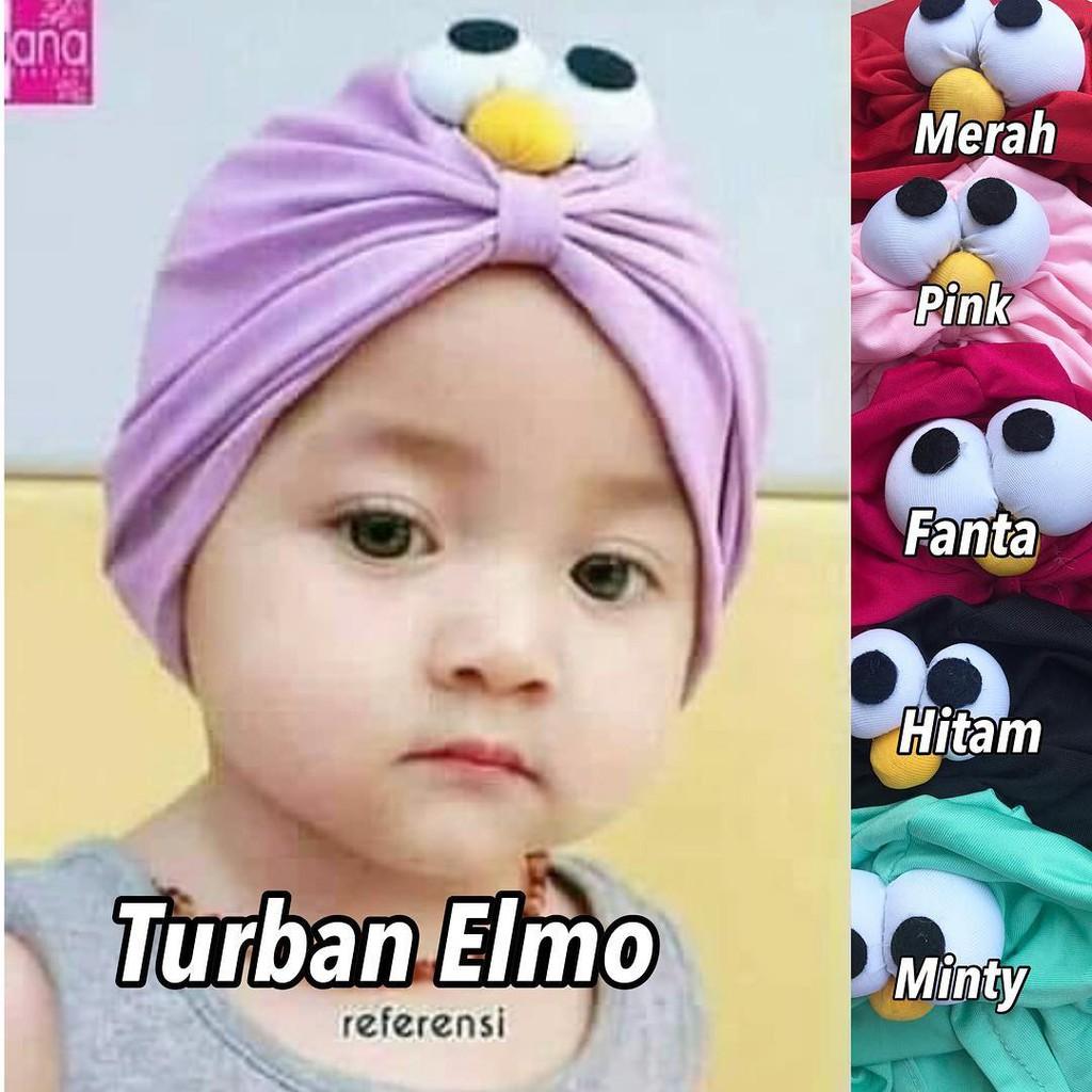 HP24 Turban Baby Motif Elmo Bahan Jersey Tebal Aksesoris Hijab Anak  Perempuan Kekinian  834adebc29