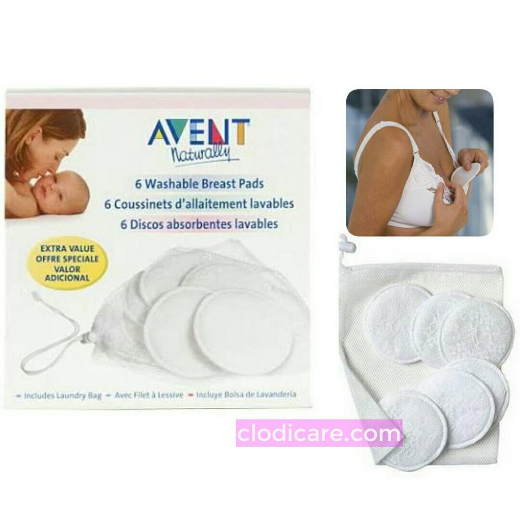 Breast Pad Washable Avent Breastpad Penahan Rembesan Asi Cuci Ulang Shopee Indonesia