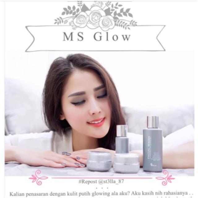 Paket Wajah Ms Glow Whitening Glowing Brightening Acne Ultimate Flek Cantik Skincare Original Shopee Indonesia