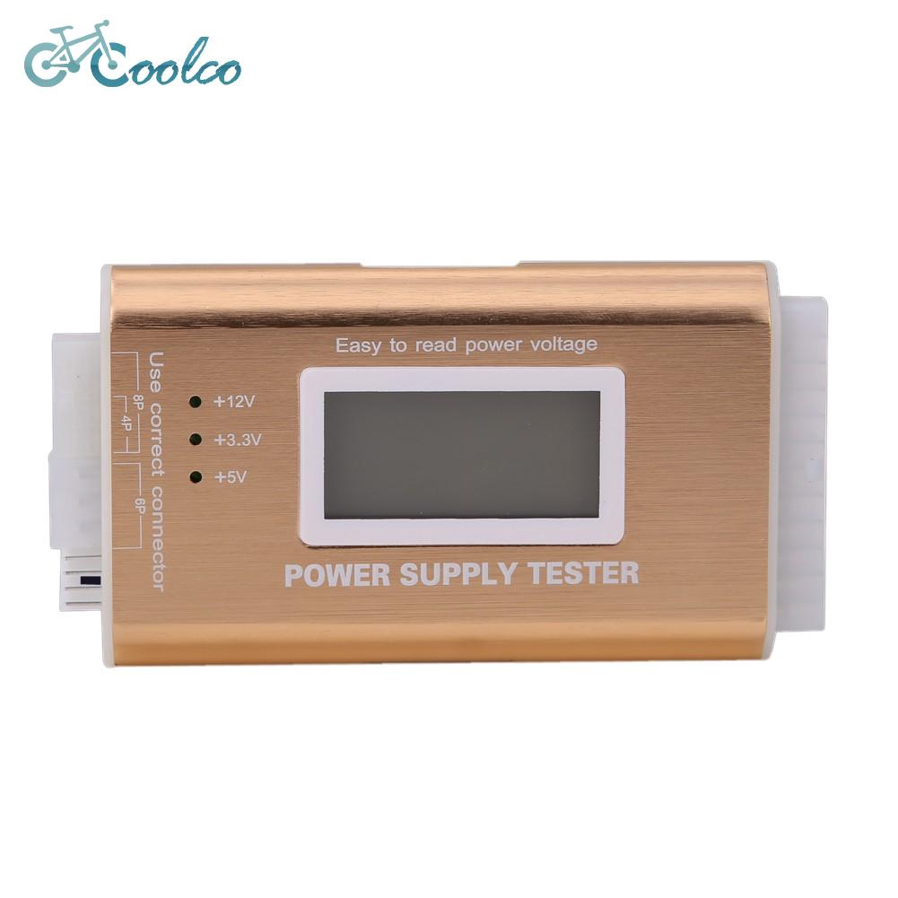 Digital LCD PC Computer PC Power Supply Tester 20//24 Pin SATA HDD Testers ND
