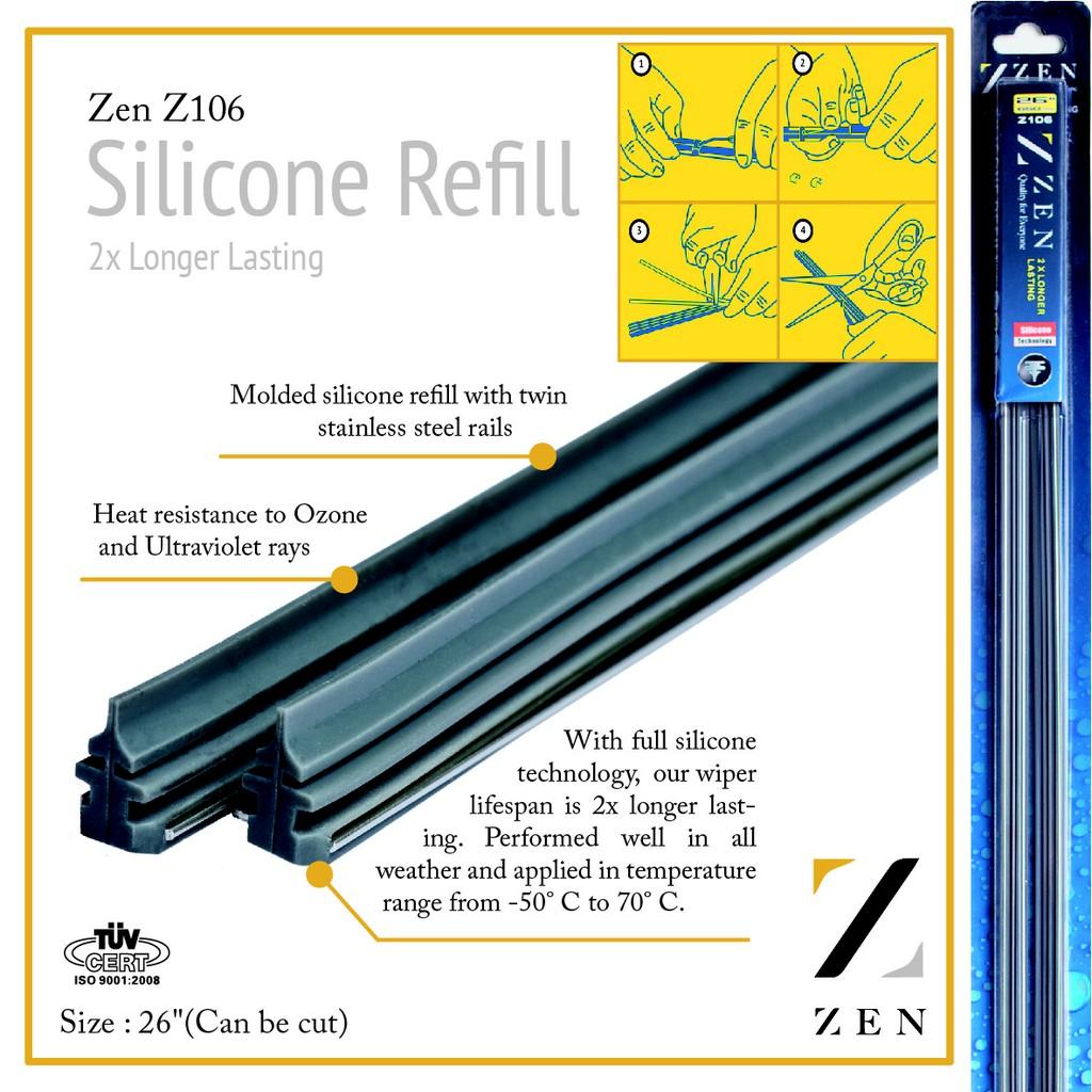 Zen Silicone Wiper Refill 26