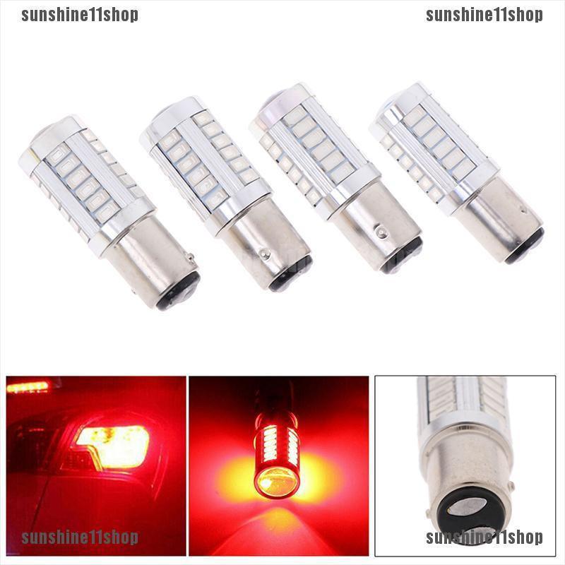 4pcs White 1157 BAY15D 33 SMD 5630 LED Brake Turn Signal Rear Light Bulb 12V