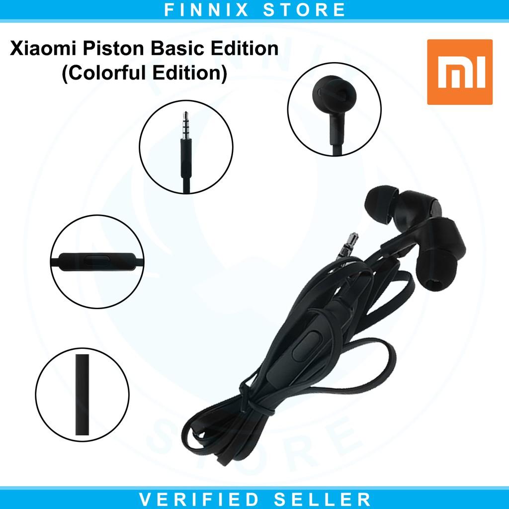 Xiaomi Mi Piston Basic Edition In Ear Earphones Headset With Mic 3 Colorful Earphone Original Hitam Shopee Indonesia
