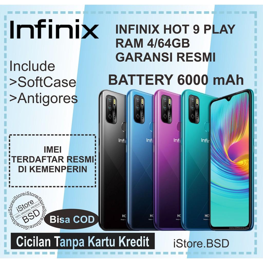 INFINIX HOT 9 PLAY RAM 4/64GB | BATTERY 6000mAh | Garansi ...