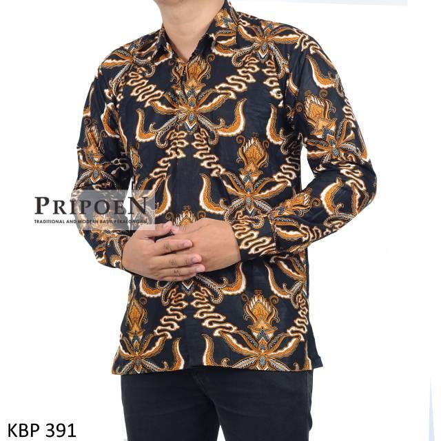 Pripoen Batik M Xxl Kemeja Batik Pria Burung Garuda Kbp 384 Api