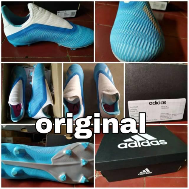 Sepatu Bola Adidas X 19 Ll Fg Tanpa Tali Sepatu Gaya Lionel Messi
