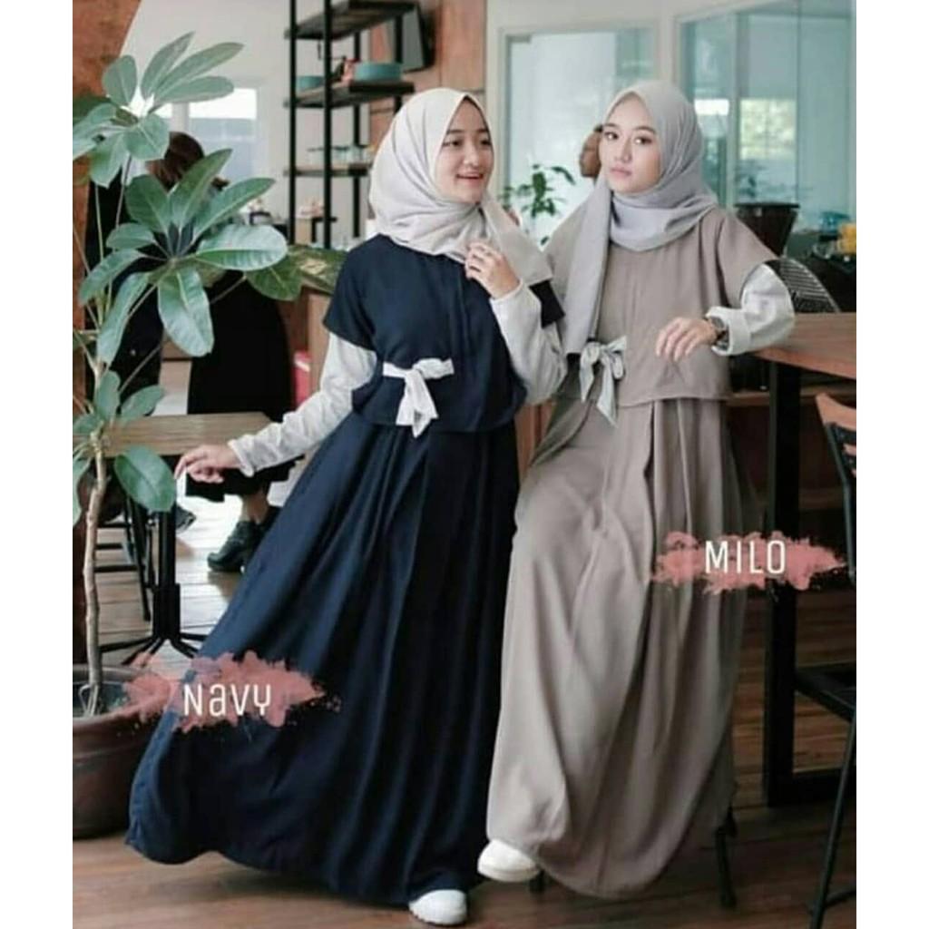 Denada maxi /Dress Muslim / Gamis Remaja / Baju Muslim Wanita / Baju Hijab  Murah