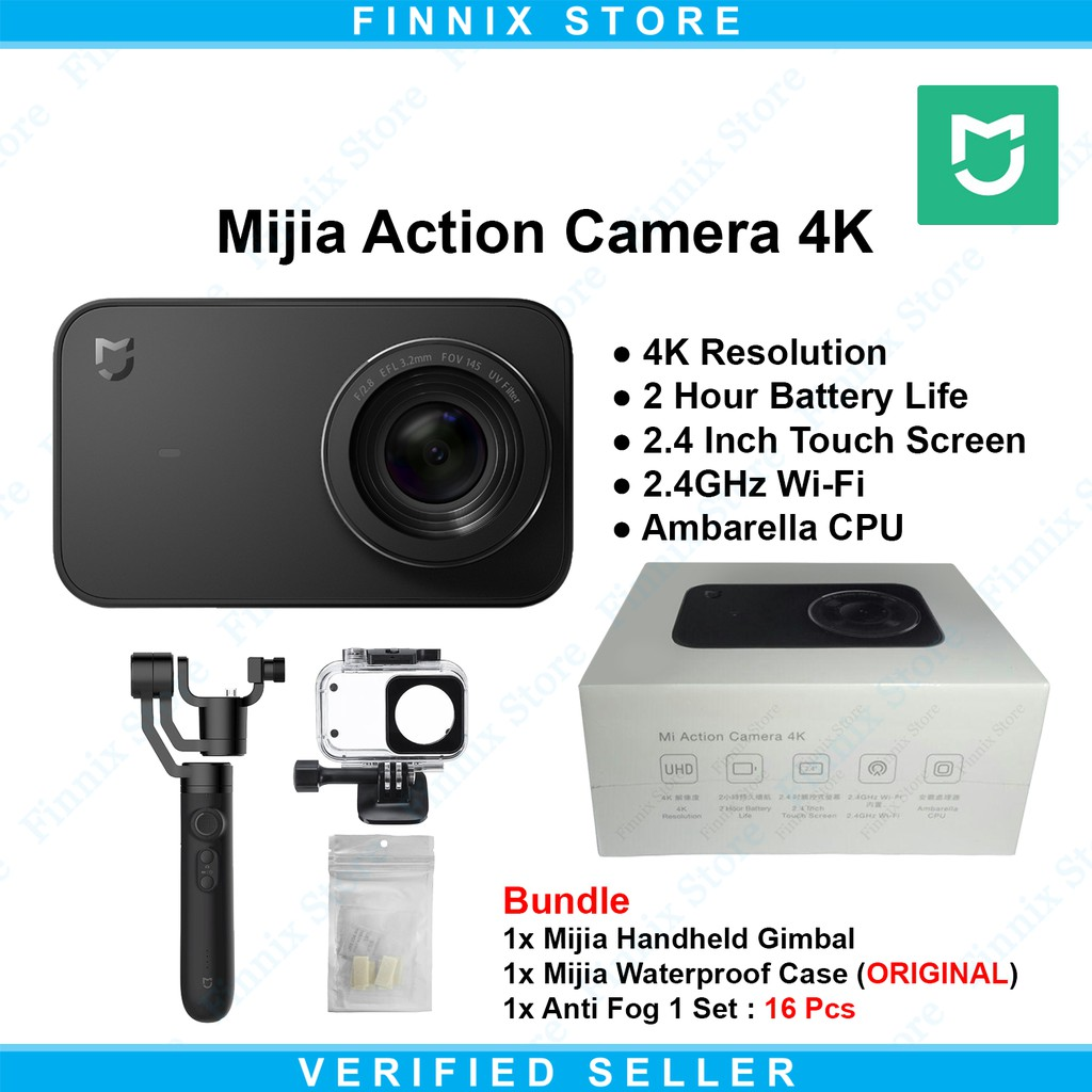 Xiaomi Mijia Action Cam Camera 4k 30fps 145 Large Wide Angle INTERNATIONAL | Shopee Indonesia