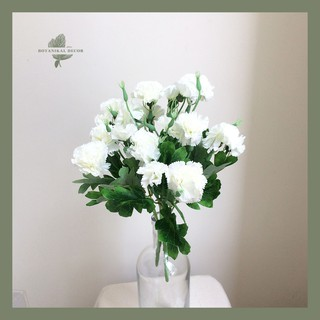 artificial flower carnation bundle 10 flower head bunga