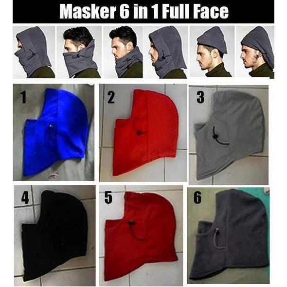 🔥Murah🔥─=≡Baf buff Masker Balaclava Bandana Kupluk Topi Helm Polar 6 in 1 Full Face | Shopee Indonesia