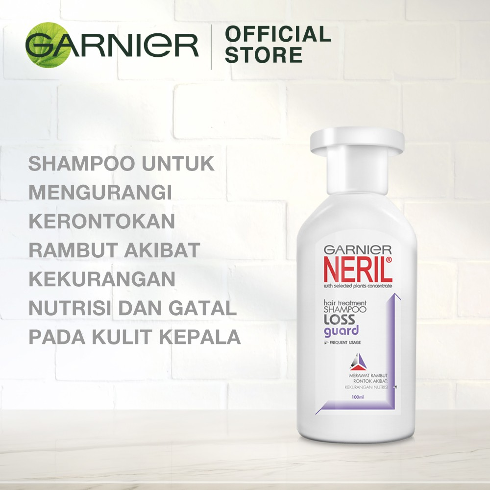 Garnier Neril Shampoo Loss Guard Hair Care - 100 ml (Perawatan Untuk Rambut Rontok)-1