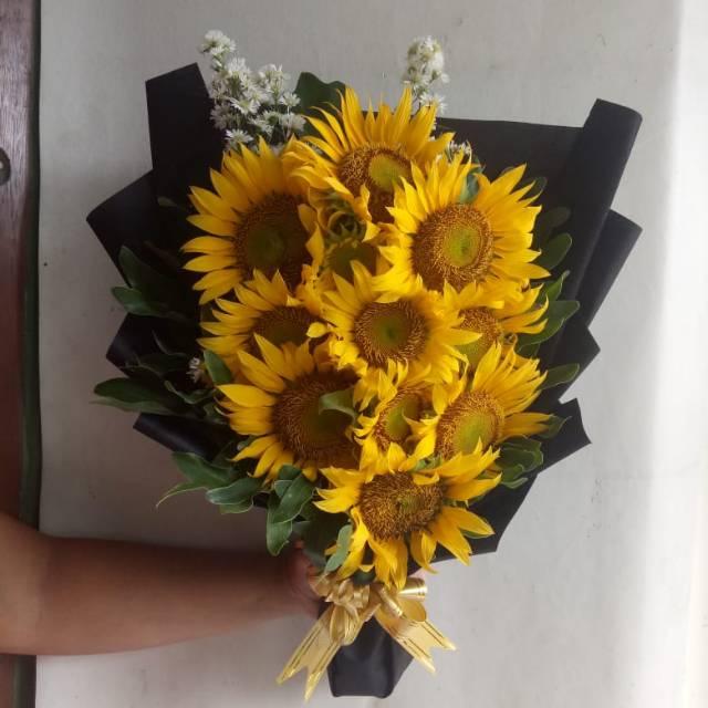 Buket Bunga Matahari Asli Dan Fresh Bouquet Sun Flower Shopee Indonesia