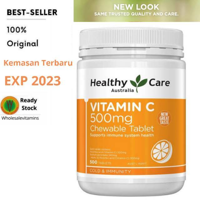 Healthy Care Vitamin C 500mg 500 Tablets Shopee Indonesia