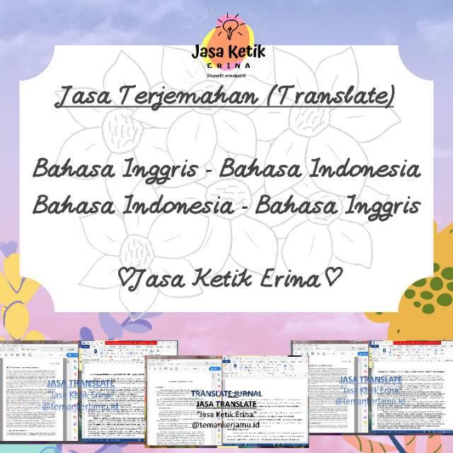 Jasa Terjemahan (Jasa Translate) Bahasa Inggris-Indonesia dan Bahasa  Indonesia-Inggris | Shopee Indonesia