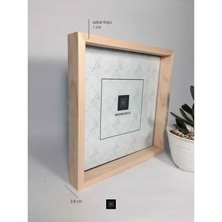 bingkai foto 20x20 cm pigura kayu - frame foto dekorasi