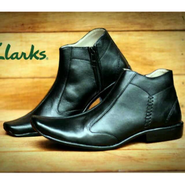 Sepatu Pantofel Cevany boots zipper resleting Original formal kerja kantor  kulit asli  94c3c0218d