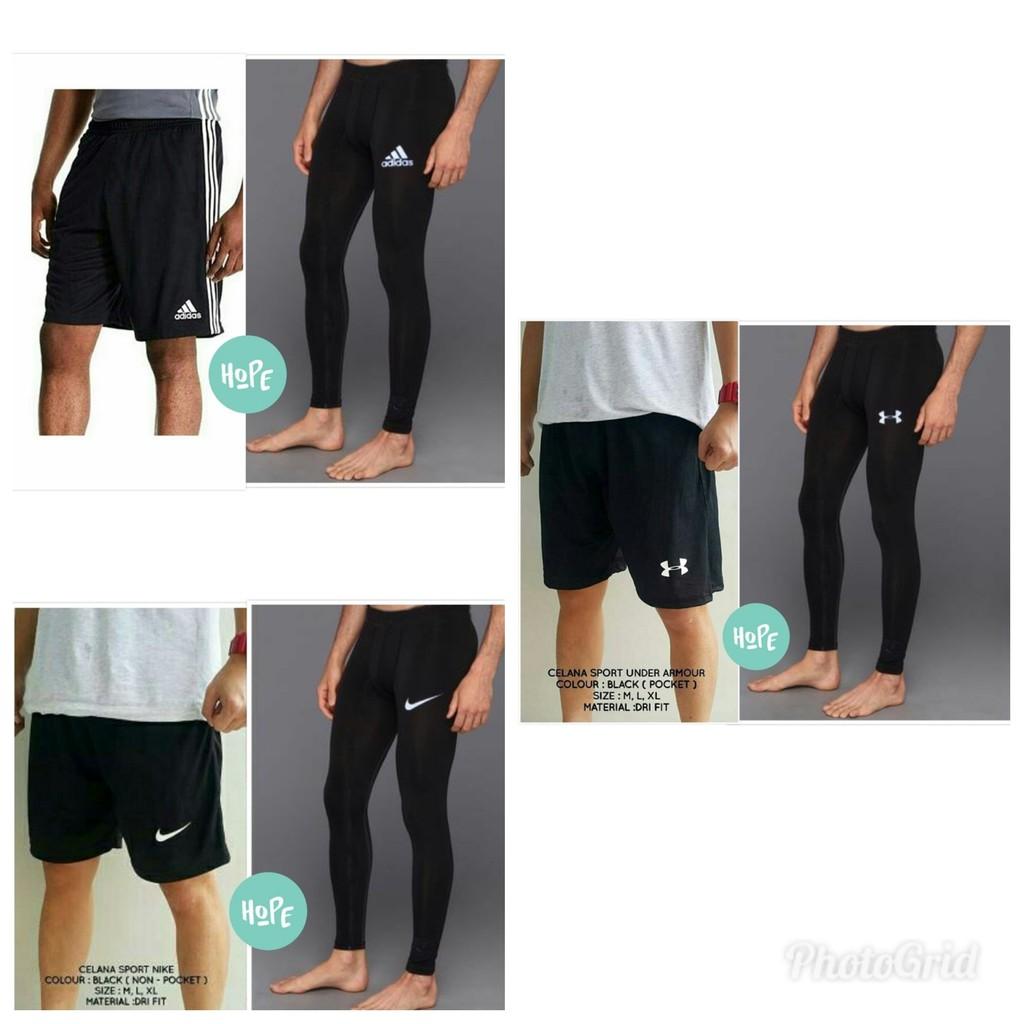 Paket Hemat Celana Legging Dan Celana Futsal Gym Fitness Murah Shopee Indonesia