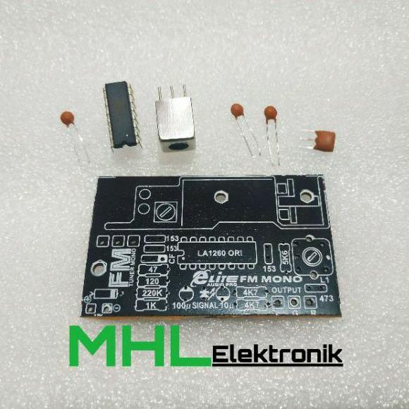 PCB Tuner FM Mono Elite EL 048 Plus Komponen
