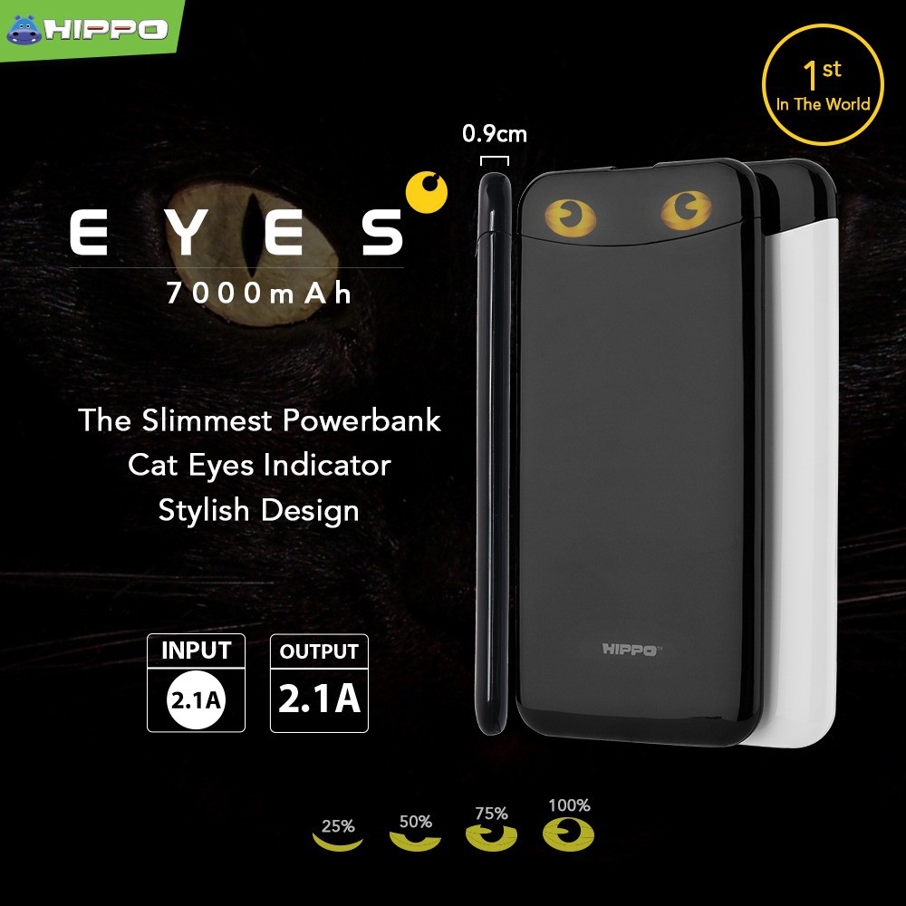 Hippo Power Bank 12000 Mah Titan 2 Simple Pack Slim Metal Design Powerbank Atlas 12000mah Polymer Cell Shopee Indonesia