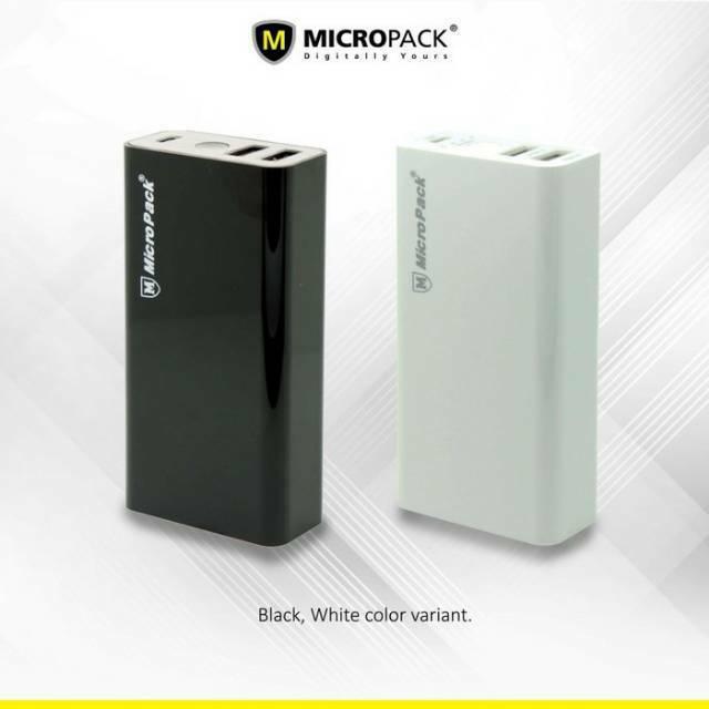 Power Bank 6.000 mAh Li-ion 2 Ports Micropack P60-2 Black