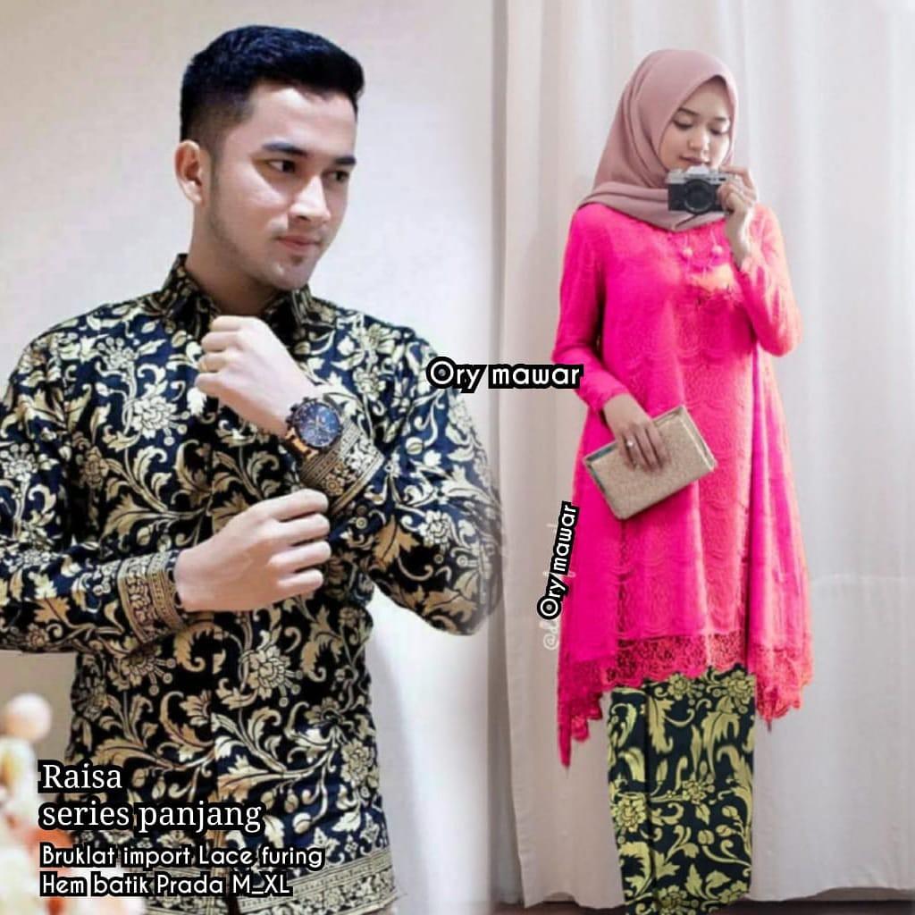 [Bayar di Tempat] Couple Untuk Pesta Pernikahan Baju Resepsi Pernikahan  Modern model Gamis
