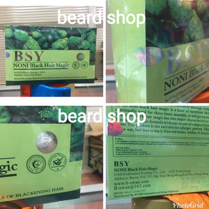 [ box besar isi 20 sachet ] BSY Noni BPOM black hair shampo | Shopee Indonesia