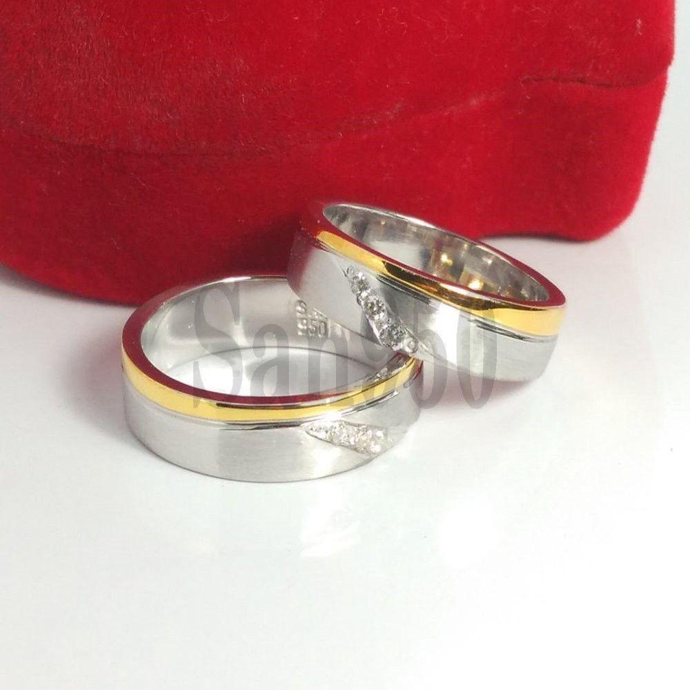 Cincin Kawin Emas Putih Couple R4437 Shopee Indonesia