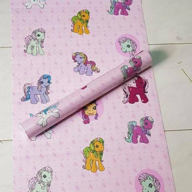 Wallpaper Dinding Sticker Little Pony Unicorn Pink Kartun 10 Meter Shopee Indonesia