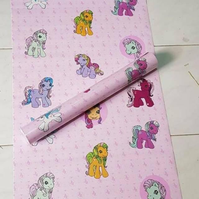 Wallpaper Dinding Sticker Little Pony Unicorn Pink Kartun 10 Meter Shopee Indonesia
