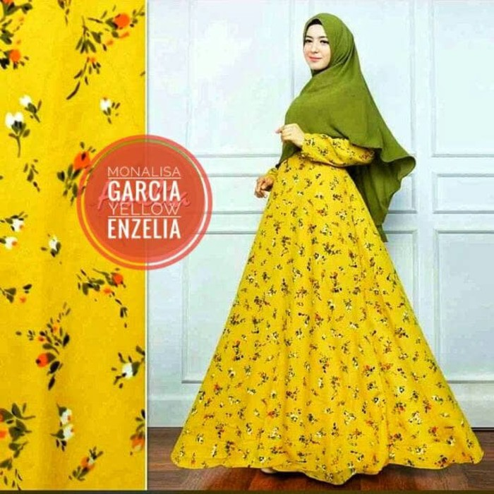 PROMO Asifa syari yellow RO gamis wanita katun jepang kuning MURAH   Shopee Indonesia