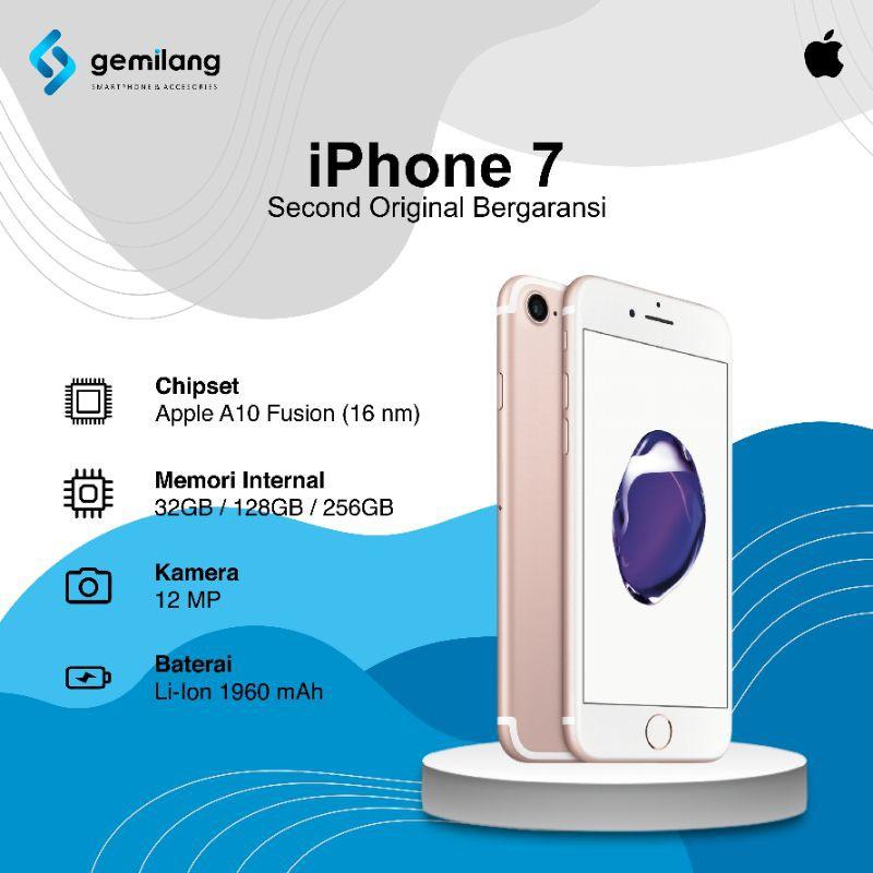 Iphone 7 128gb second/bekas