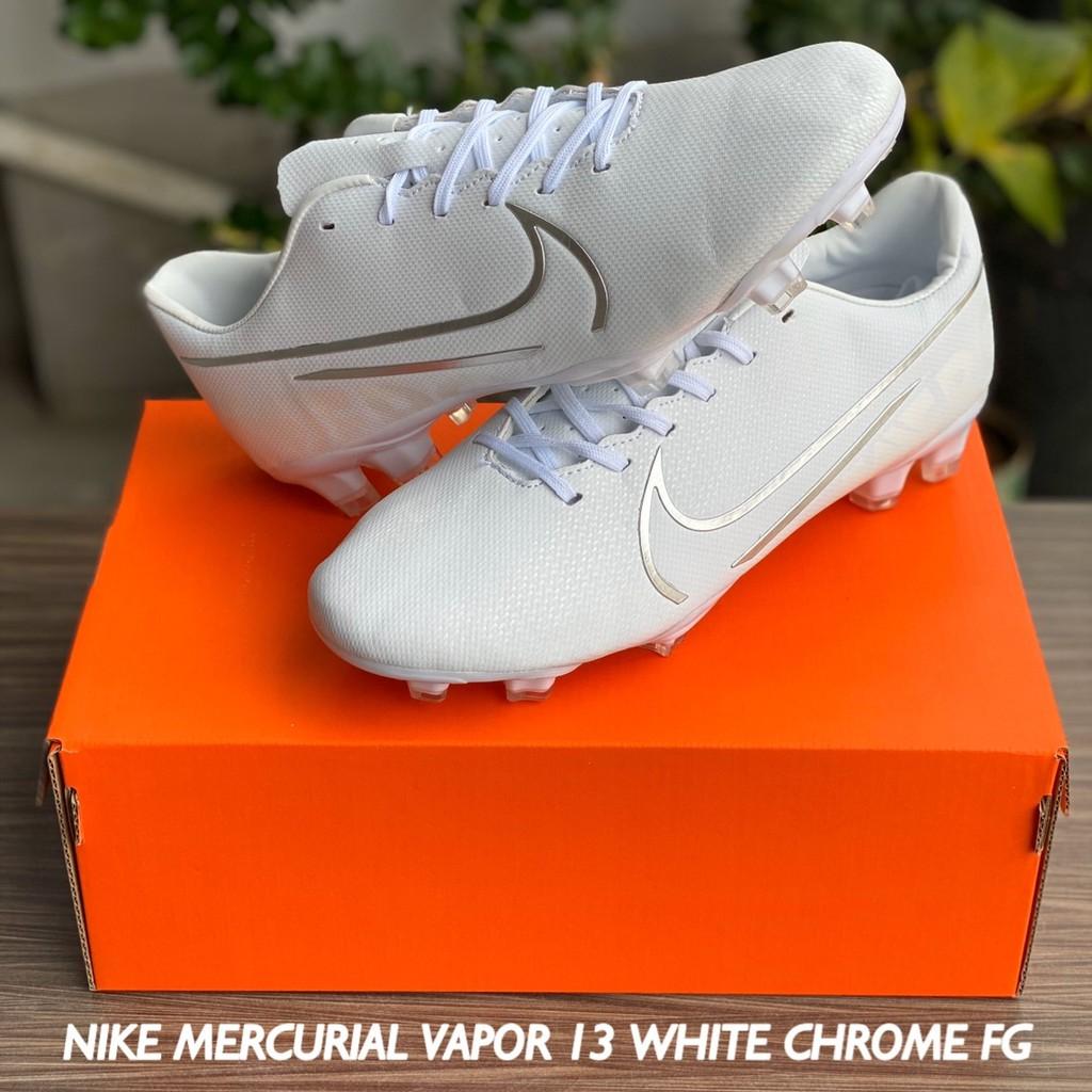 Sepatu Bola Nike Mercurial Vapor 13 White Chrome Fg Shopee Indonesia
