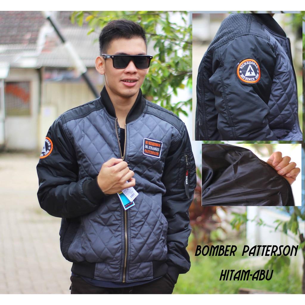 Jaket Bomber Baseball Keren Gaul Korea Black Dark Grey Hitam Abu Tua Harakiri Style Shopee Indonesia