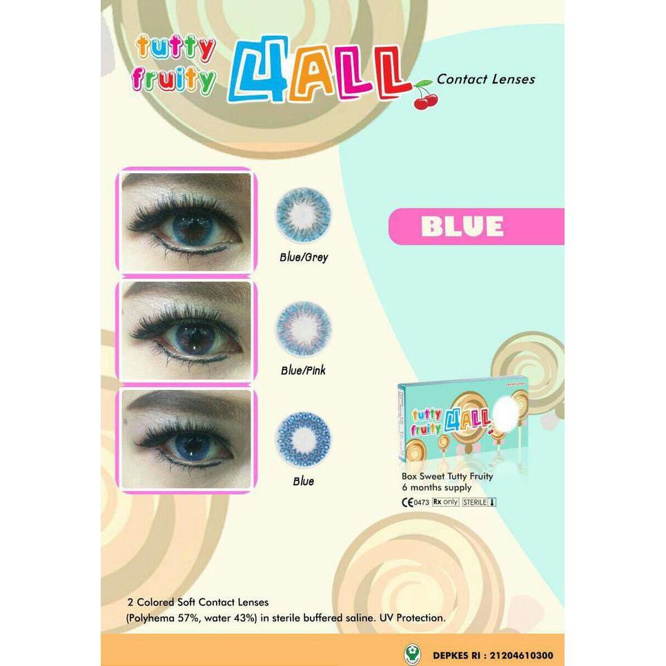 Softlens 4 All Blue / Soft Lens Tutty Fruity 4All Blue Base - HOT PROMO - KECE - AWIK1057