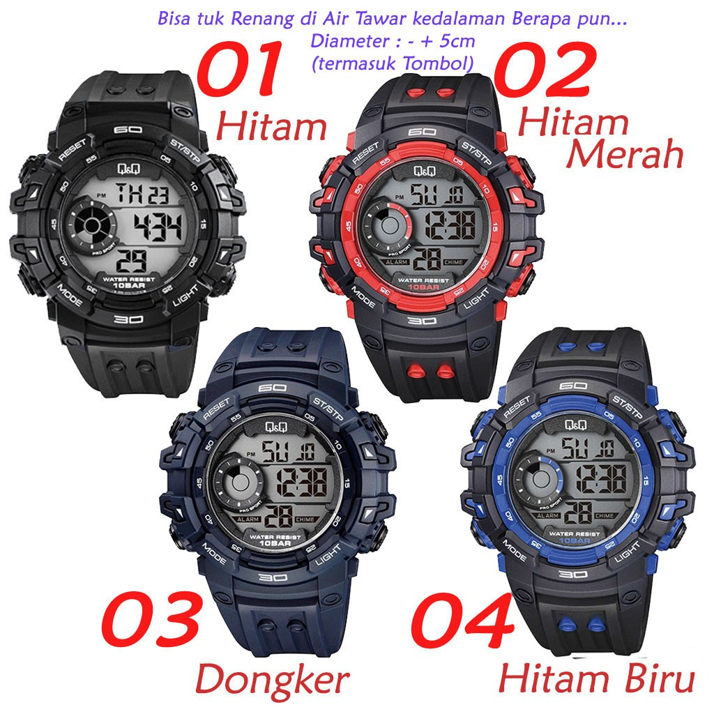 Original 100 Q Q M156j003y M156j Sports Series Newproduct Jam Tangan Digital Shopee Indonesia